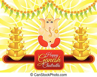 abstract artistic ganesh chaturthi background vector...