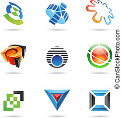 Various colorful abstract icons, Set 10