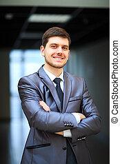 handsome businessman - Portrait of a smiling handsome...