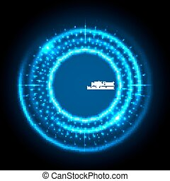 Abstract techno background. - Abstract techno background...
