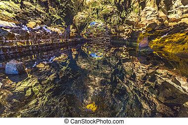 Jameos, del, Agua, Lanzarote, Canário, Ilhas, Espanha