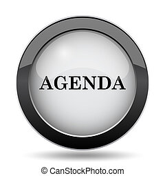 Agenda icon. Internet button on white background.