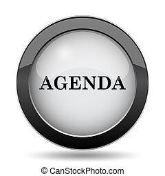 Agenda icon. Internet button on white background.