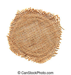 Raffia mesh - Circular raffia mesh isolated on white...