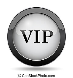 VIP icon Internet button on white background