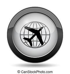 Travel icon Internet button on white background