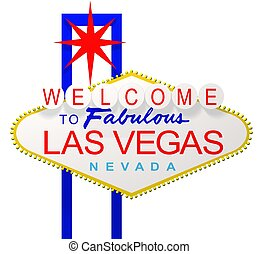 Las Vegas Sign - Rendered Las Vegas Nevada sign