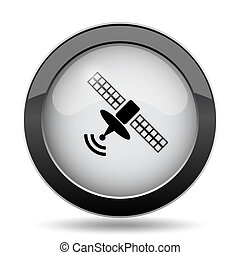 Antenna icon. Internet button on white background.