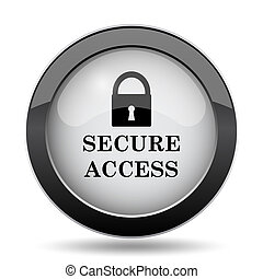 Secure access icon Internet button on white background