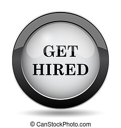 Get hired icon Internet button on white background