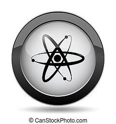 Atoms icon. Internet button on white background.