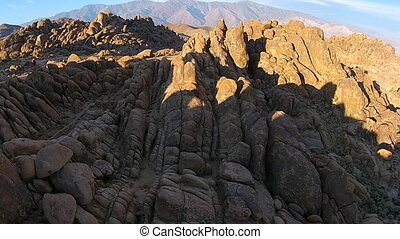 Alabama Hills - Rock Formations of Alabama Hills Sierra...