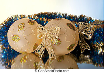 colorful New Year and Christmas decorations for the...