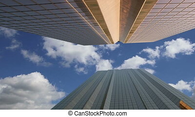 Modern skyscrapers, DUBAI, UAE - Modern skyscrapers, Sheikh...
