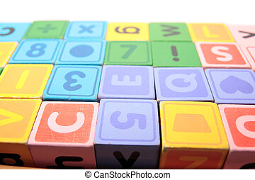 childrens play blocks - childrens toy letter building blocks...