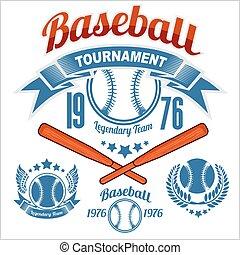 American baseball emblem and logo on white background
