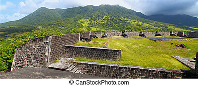 Brimstone Hill - Saint Kitts - Brimstone Hill Fortress below...