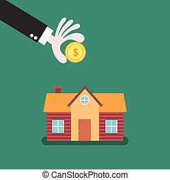 Home savings and investment concept