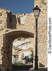Cuenca Spain, walls - Cuenca Castilla-La Mancha, Spain, arch...