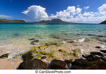 Majors Bay Beach - St Kitts - The beach at Majors Bay on the...