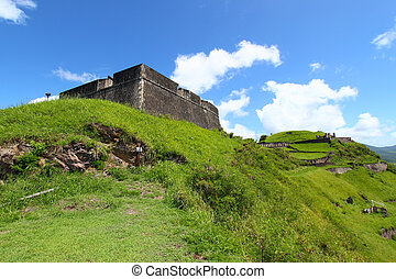 Brimstone Hill Fortress - St Kitts - View of Brimstone Hill...