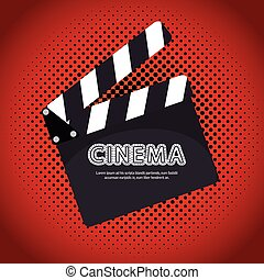 cartoon clapperboard film festival movie design