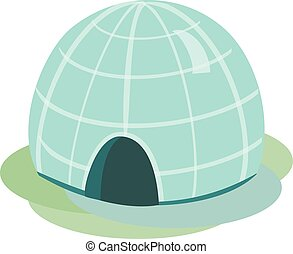 Igloo Vector Isolated Illustration - Igloo icehouse Vector...
