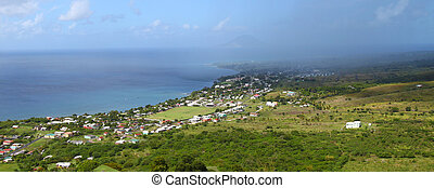 Coastline of St Kitts - Beautiful coastline of St Kitts from...
