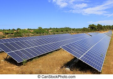Solar electric plates green energy ecology