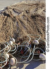 fishing net tackle over soil traditional fishery