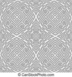 optical art abstract seamless pattern - vector black colour...
