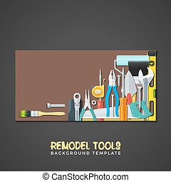 remodel tools backdrops banner templates - vector colourful...