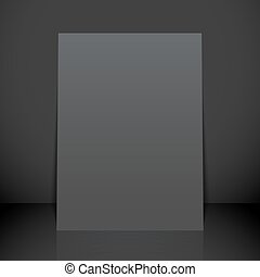 vertical black poster flyer mockup