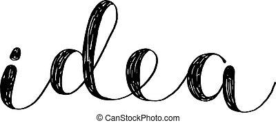 Idea. Brush lettering. - Idea. Brush hand lettering....