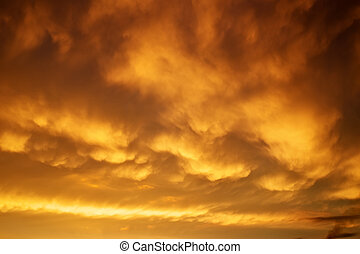 Beautiful stormy sunset sky Cloudy abstract background...