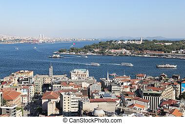 Karakoy and Topkapi Palace in Istanbul City, Turkey