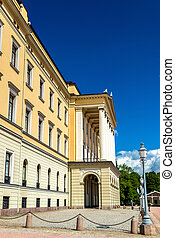 The Royal Palace in Oslo, the capital of Norway
