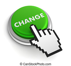 change keyboard concept 3d illustration