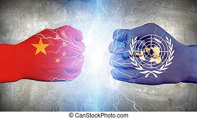 ONU, contra, China