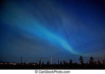 Northern lights at summer night