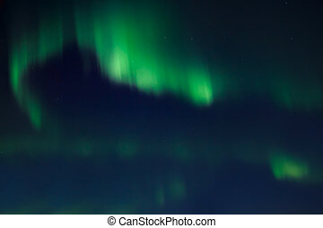 Northern lights (Aurora Borealis) in the night sky