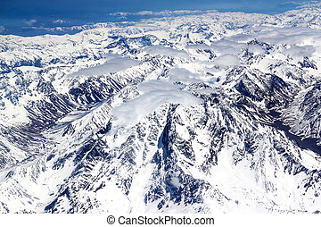 Andes - Aerial view of the Andes
