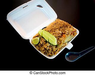 Fried rice in foam box / Food take home
