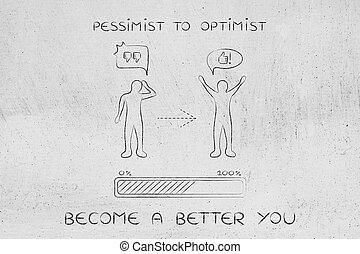 pessimist to optimist: changing attitude, progress bar and...