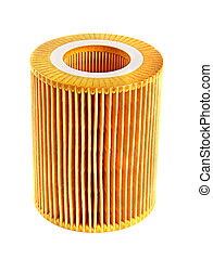 Oil filter isolated over white background