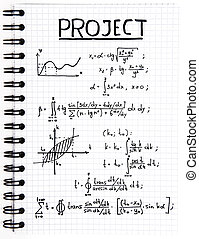 Notepad with a mathematical project