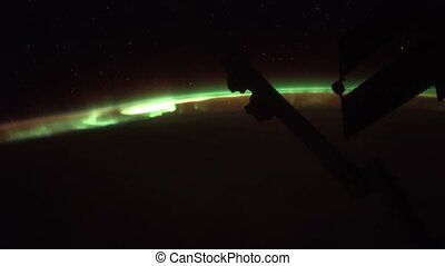 Earth and Aurora Borealis from ISS. Elements of this video...