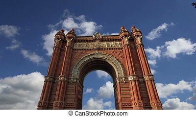 Arc de Triomf,Barcelona,Spain(time lapse)