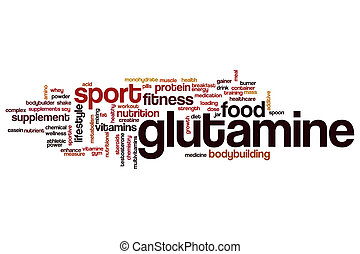 Glutamine word cloud concept