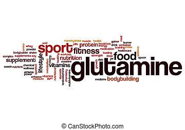 Glutamine word cloud concept
